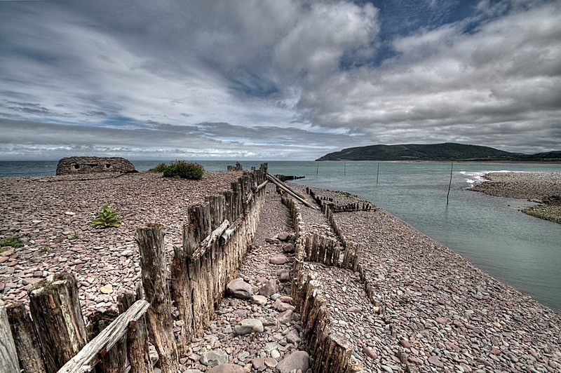 Old Groynes at Porlock Weir in Somerset - Somerset