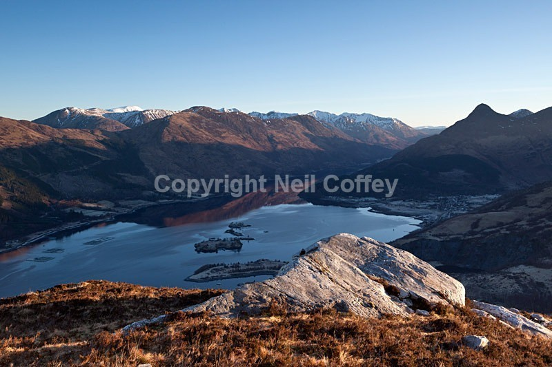 Mornig light over Glencoe, Loch Leven, Highland - Landscape format