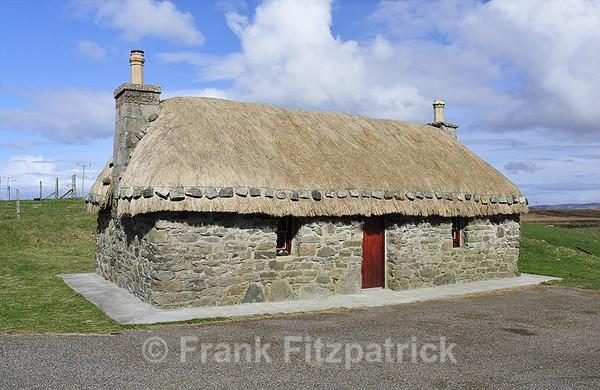 Restored croft house, Flodda, Island of Benbecula, Outer Hebrides. - Benbecula