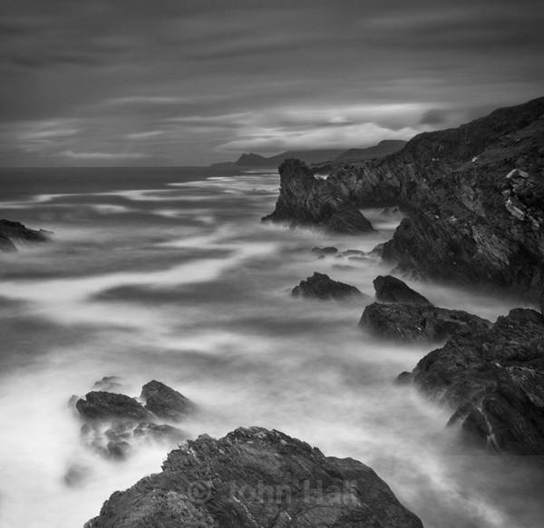 Fine Art Monochrome Of Waves Breaking On The Coast Of Achill Island, Co. Mayo.