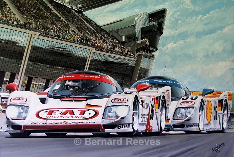 F.A.T. Porsches at Le Mans - Sports cars