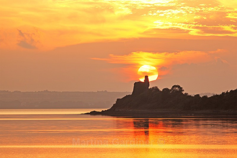 Golden Sunset at Inch Castle - Ireland by Day