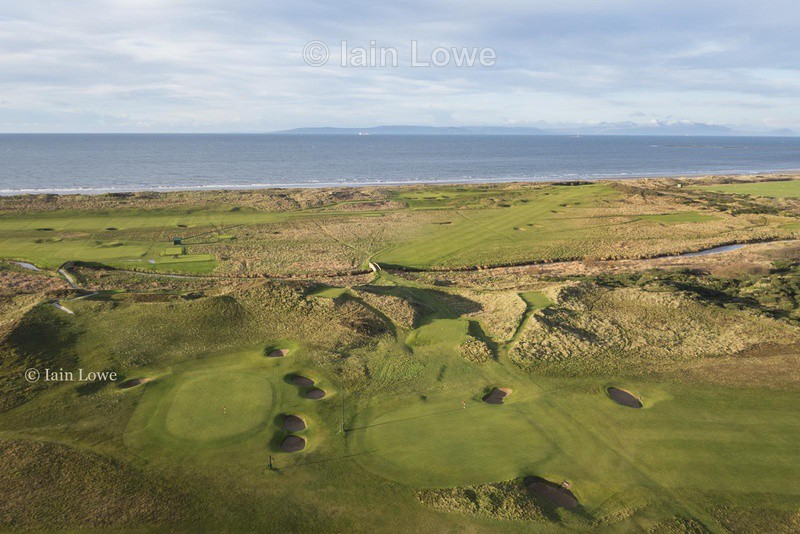 3rd and 9th greens - Prestwick Golf Links