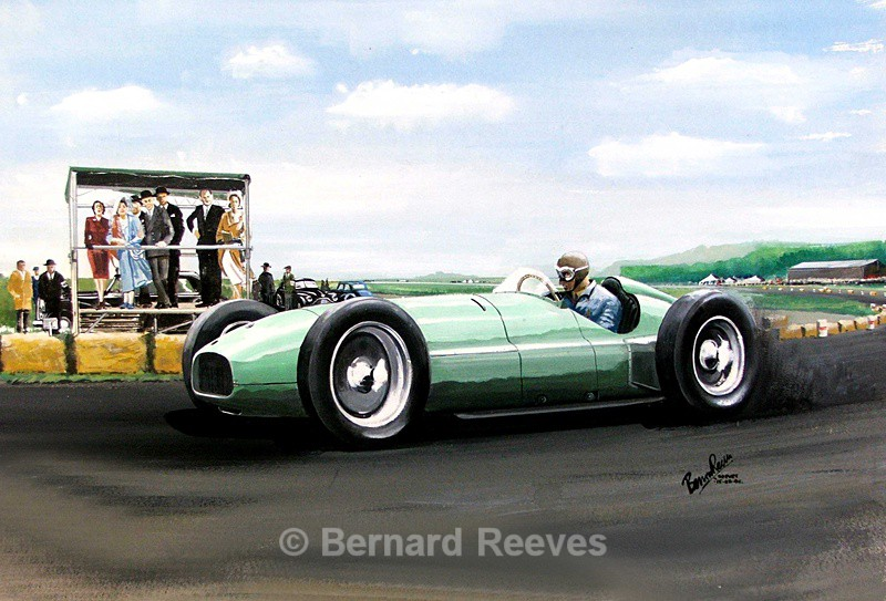 BRM first showing at Silverstone - Classic cars
