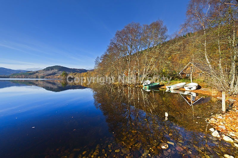Loch Achilty, Torrachilty Forest, Highland - Landscape format