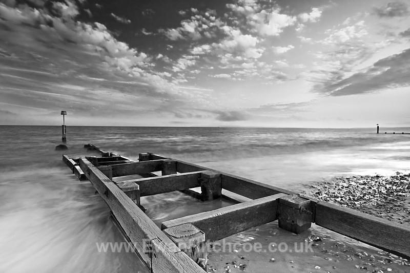 Southbourne Groyne BW - Black and White