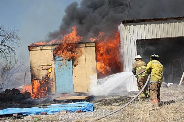 Fire attack - Bill and Michael - Fallon/Churchill Fire Department