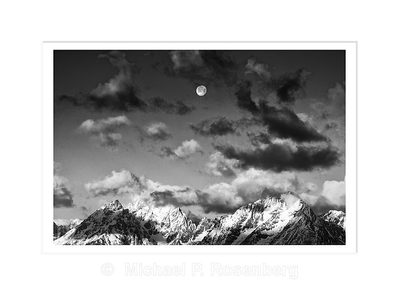 Moon Setting Over The Grand Tetons, WY - Yellowstone and Grand Tetons