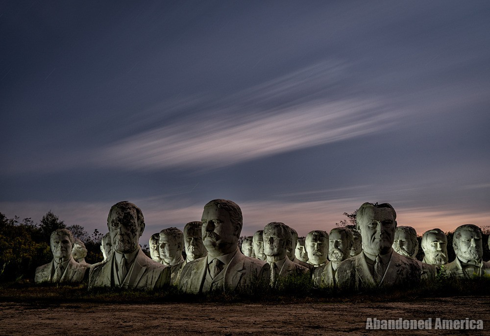 President Heads (Croaker, VA) | Row of Busts - The President Heads