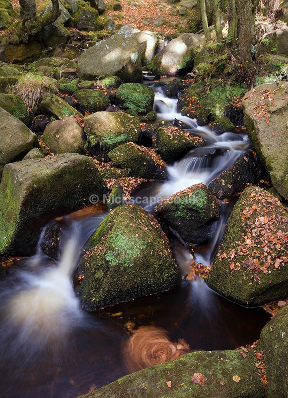 Waterfall photograph from Padley Gorge at Autumn | Peak Landscapes