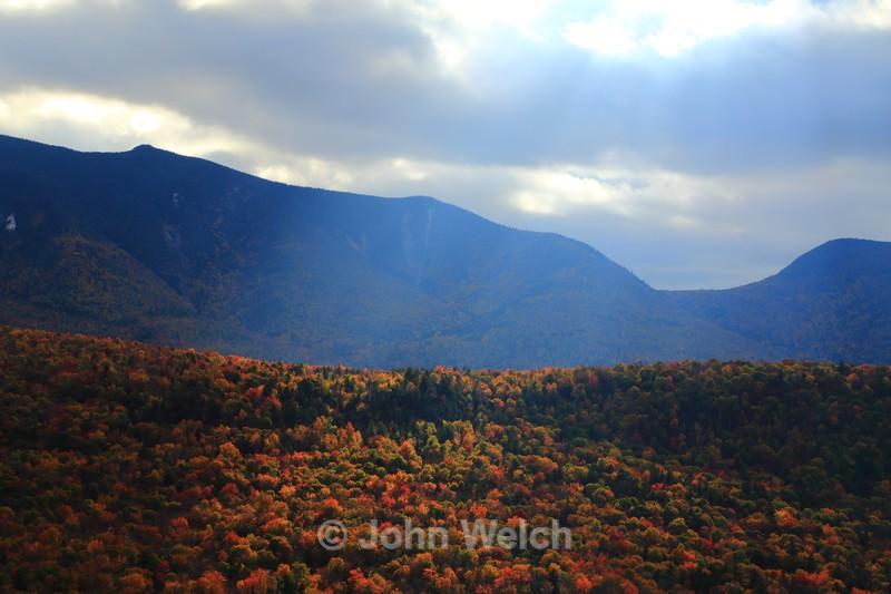 Crepuscular Rays over Osceolas - Fall Foliage Season Transitions