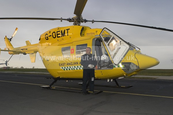 BK117 and Pilot - Air Ambulance