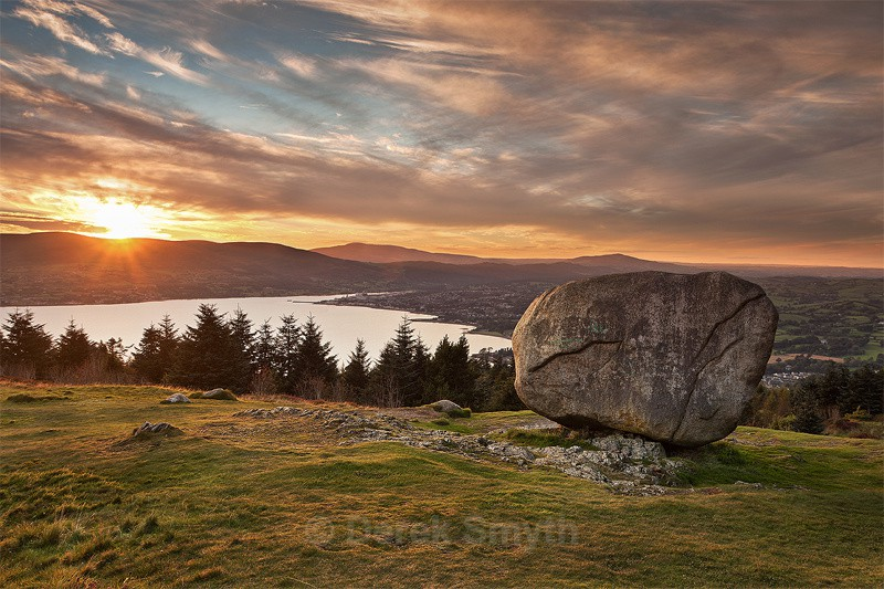 Sunset at Cloughmore - The Big Stone - Mourne Mountains