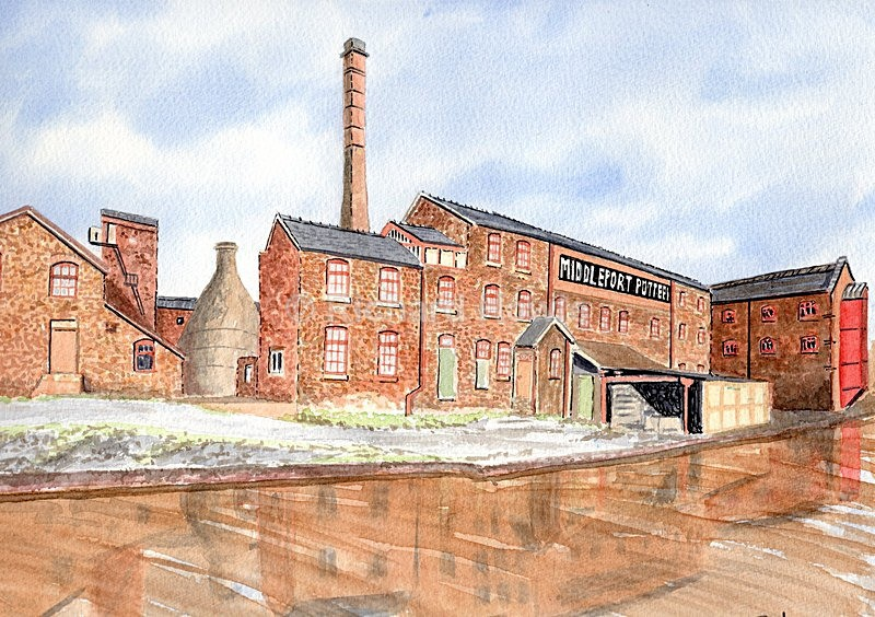 Middleport Pottery - Watercolour Paintings