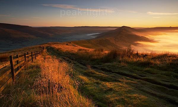 Sunlight and Mist - Peak District