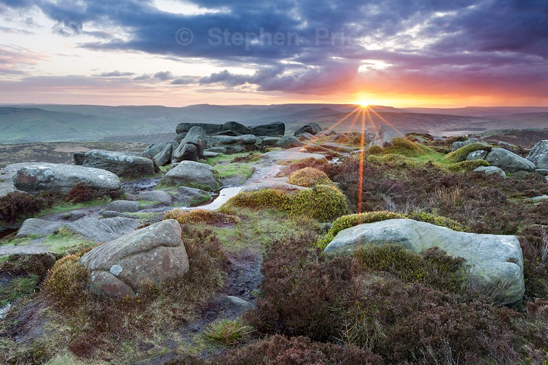 Sunset Stanage Edge Peak District | Derbyshire Photography