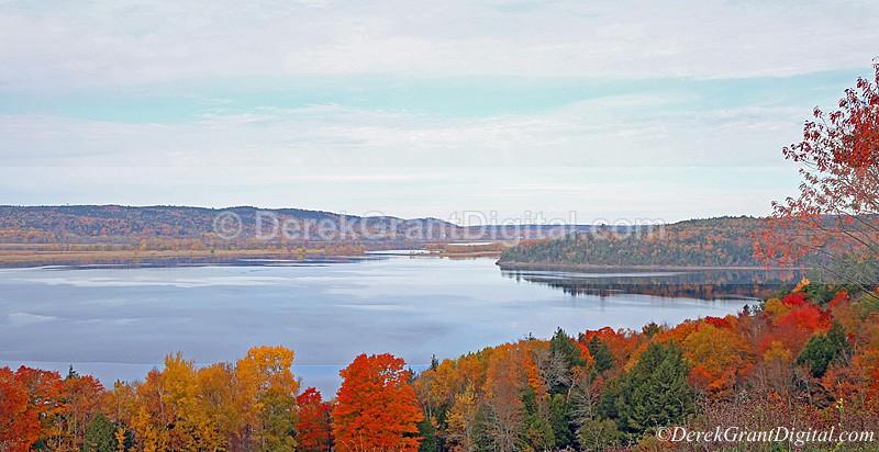 Belleisle Bay New Brunswick Autumn Foliage - New Brunswick Landscape