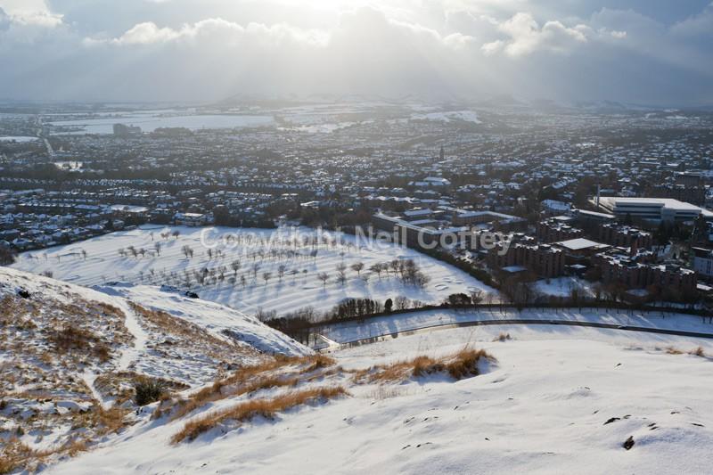 Southern Edinburgh from Arthurs Seat, Midlothian - Cities & Towns