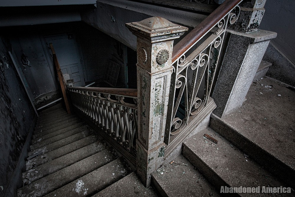 Simon Silk Mill, Easton PA: Stairway Descent | Abandoned America