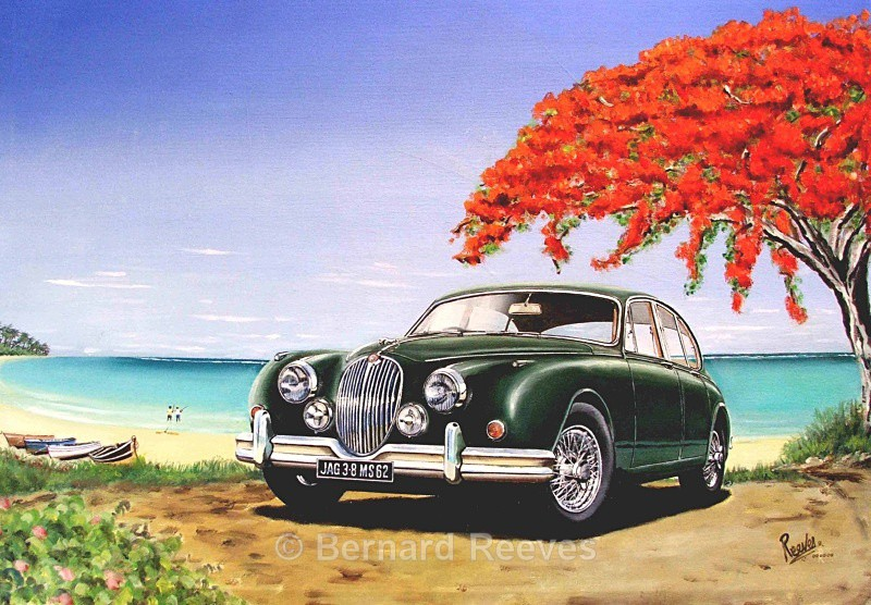 3.8 Jaguar on the beach - Classic cars on the beach