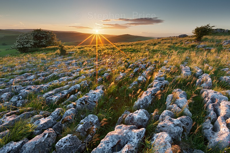 Peak District Limestone Pavement | Peak District Sunset