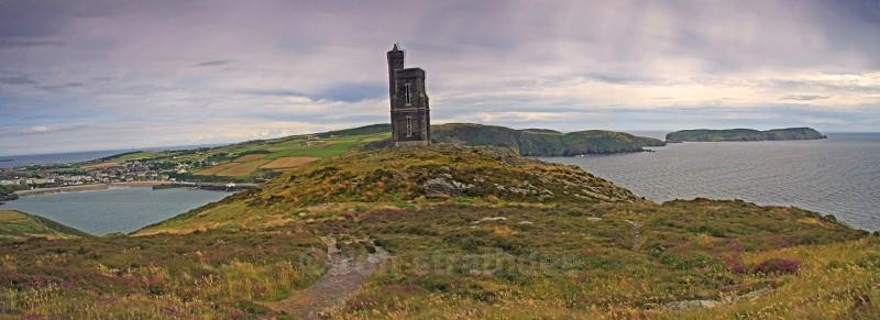Milners Tower on Bradda Head - Panorama of Man