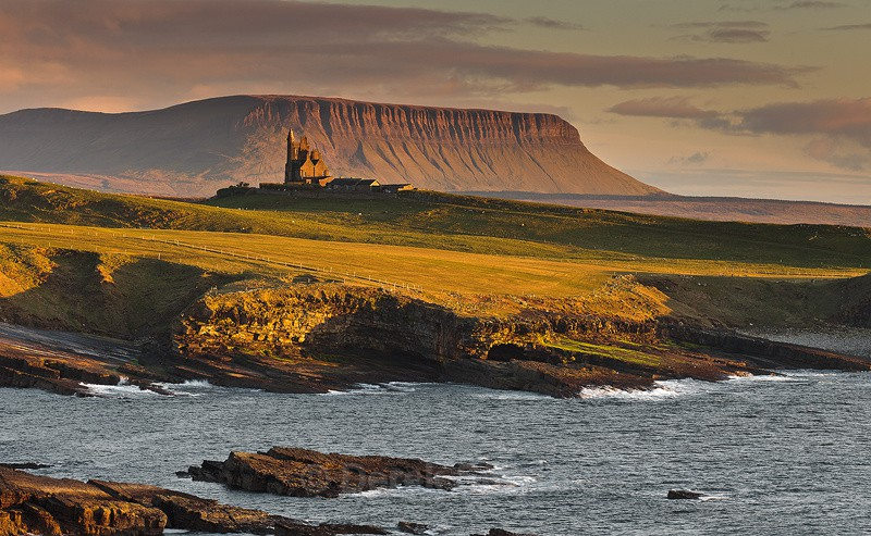 Evening Light On Classiebawn Castle - Mullaghmore County Sligo