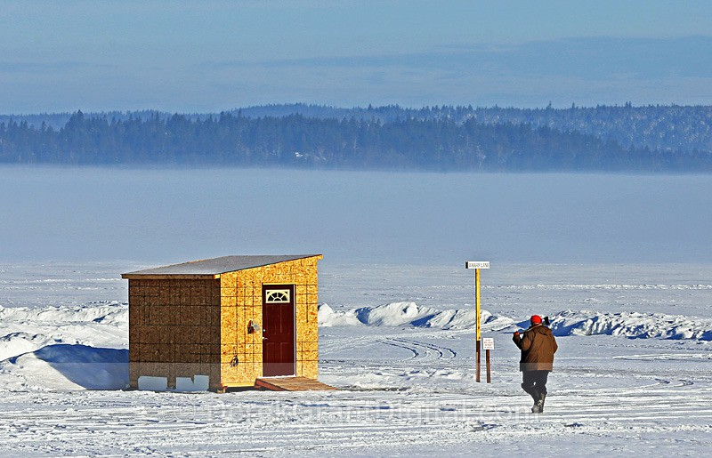 A Great Day for Ice Fishing - Ice Shacks