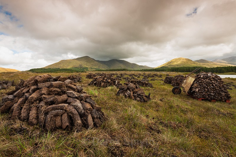 Peat Stacks - Co. Galway