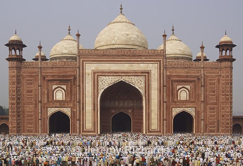 Prayers at the Taj Mahal - India