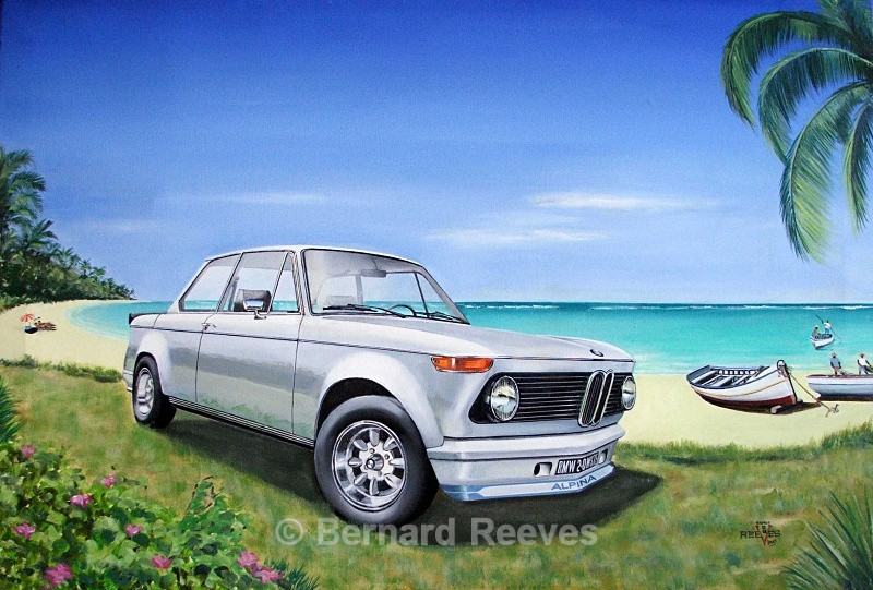BMW 2 series on the beach - Classic cars on the beach
