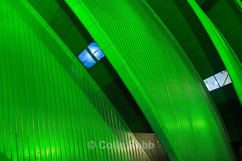 The Clyde Auditorium in green - The Colour Project