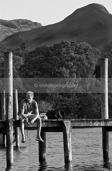 Fishing. - Monochrome Photograph's