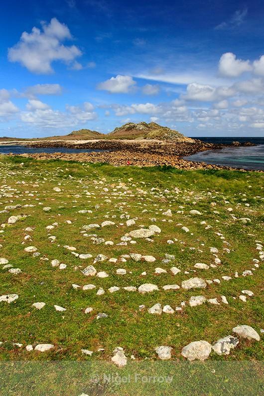Stone maze, St Martin's & White Island - Cornwall, England