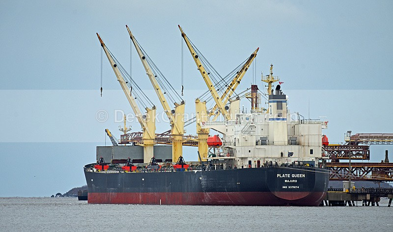 Plate Queen Bulk Carrier Potash Pier - Boats