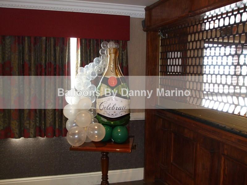Bubbly Bottle - Wedding Balloon Photos