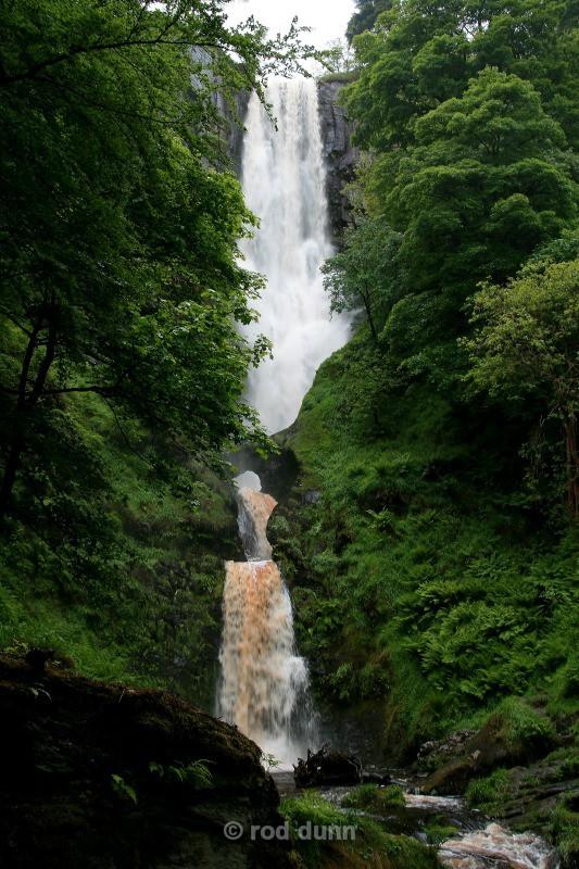 Pystyll Rhaeadr falls, Wales - Wales