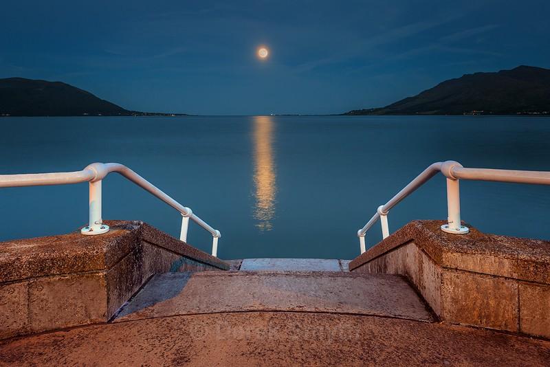 Moonrise Over Carlingford Lough - Warrenpoint