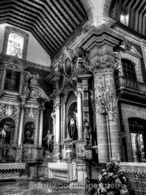Gran Canaria church bw HDR - Gran Canaria