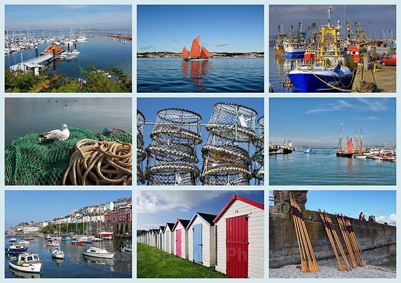 Bx10 Brixham Collage Card - Greetings Cards Brixham and Kingswear