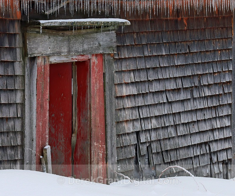 Red Door of Yore - Old Barns & Buildings