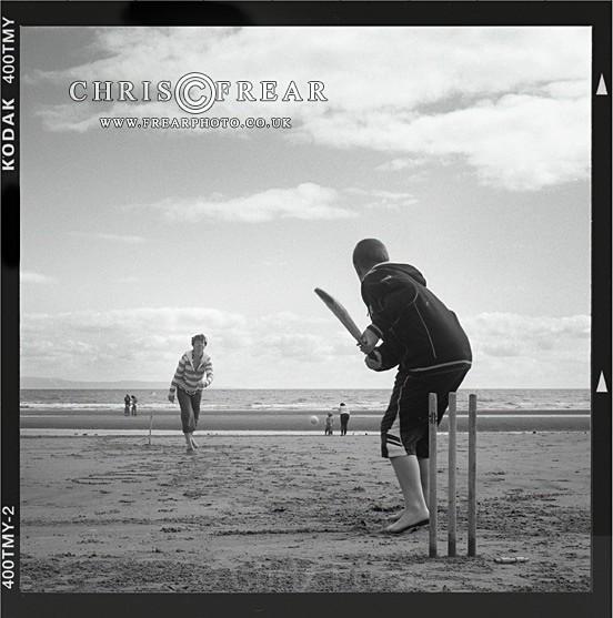 Beach Cricket I - Black & White