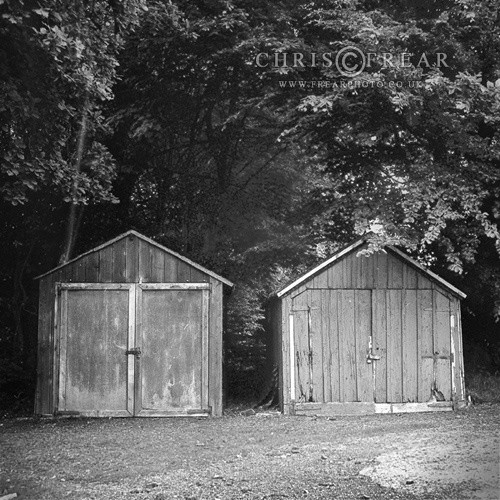 Two Sheds - Black & White