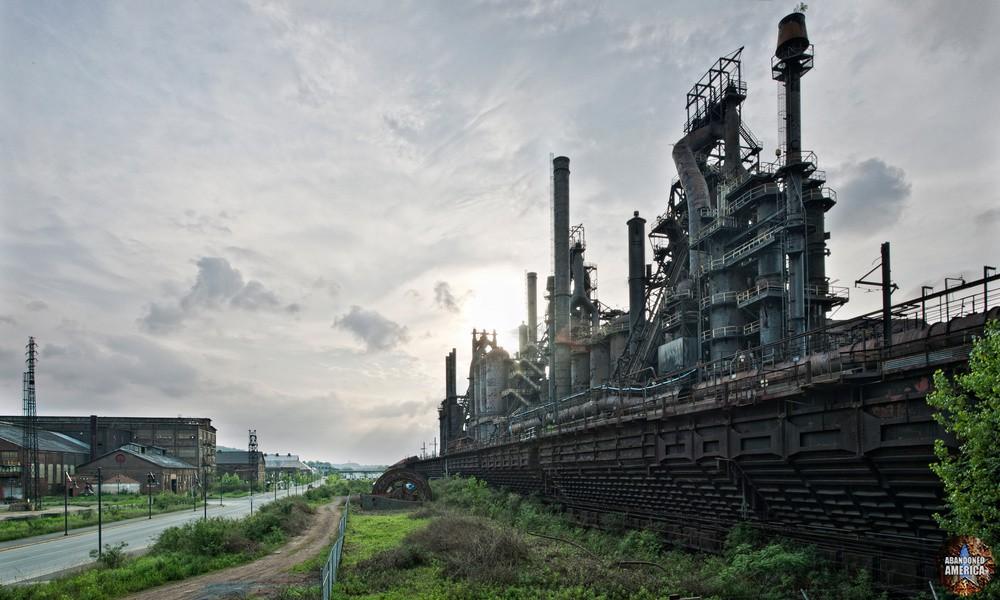 Bethlehem Steel (Bethlehem, PA)   Elevated Trestle View - Bethlehem Steel