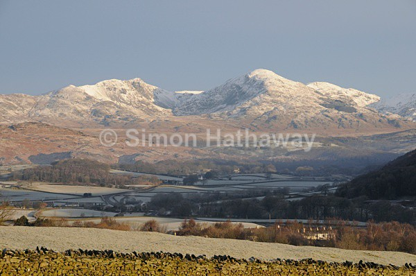 Coniston Fells from Crake Valley - English Lake District