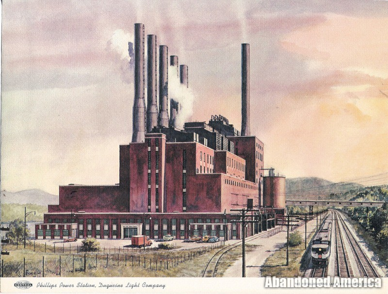 Frank R. Phillips Power Station (South Heights PA) | Historic Painting - Frank R. Phillips Power Station