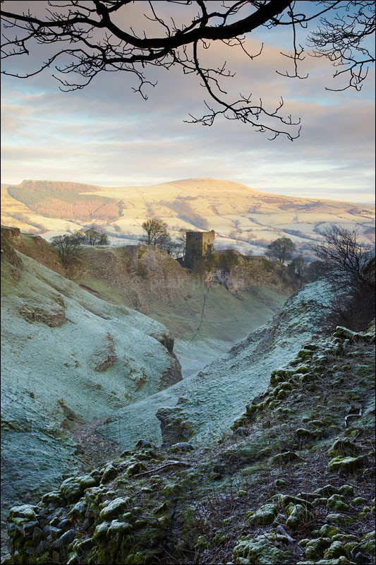 Peveril Castle - Peak District Winter