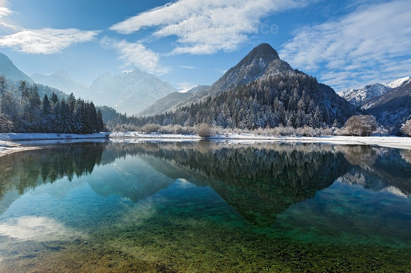 Slovenia Photography | Winter Mountain Range Slovenia