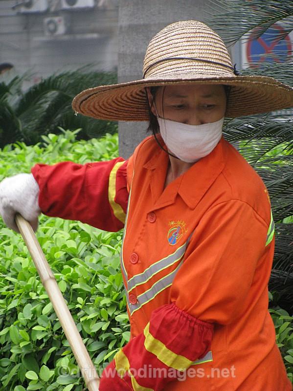 Street sweeper, Foshan, China - South East Asia