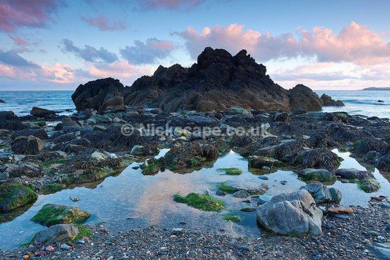 Seascape photo of the amazing rock formations at Marloes Sands in Pembrokeshire